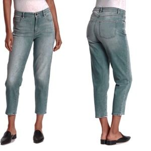 Eileen Fisher High Rise Straight Ankle Jeans 16